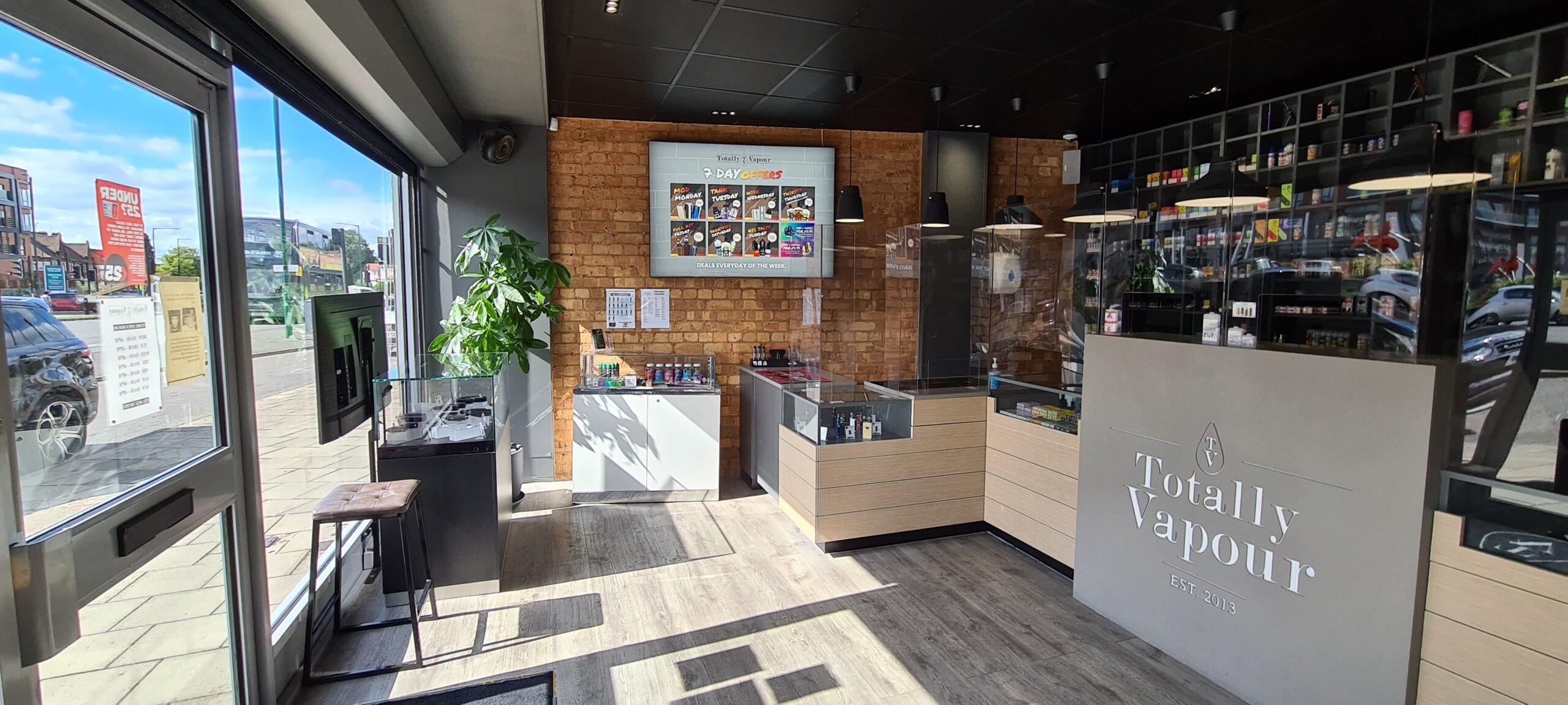 Inside Solihull Vape Shop