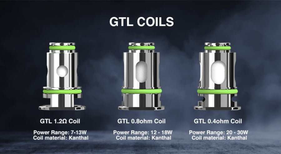 GTL Coils compatible with the Eleaf Isolo Air Pod Kit