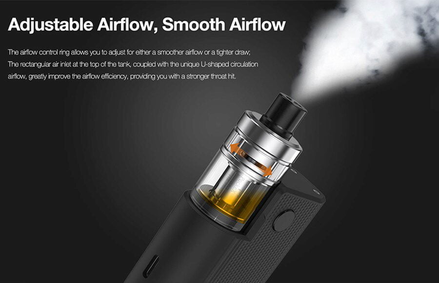 Aspire Pockex allows for adjustable and smooth airflow
