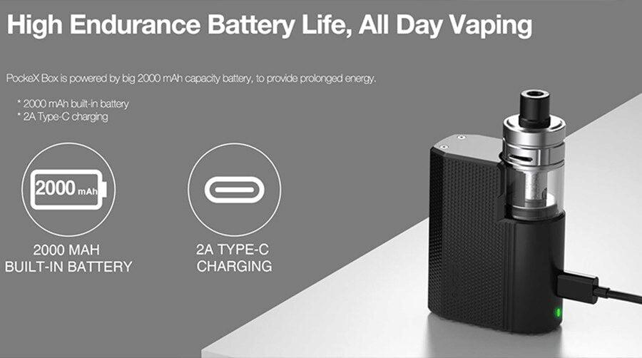 Pockex Box contains high endurance battery life