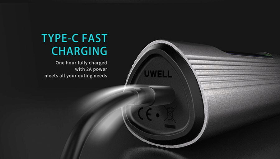 Type-C Fast Charging - 1hrs till full charge